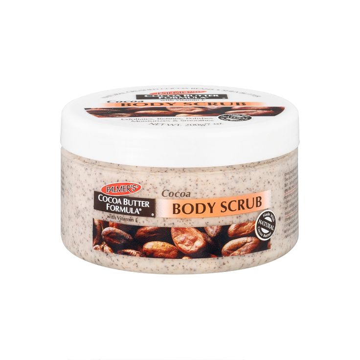 Reveal younger looking skin with Palmer's Cocoa Butter Formula Cocoa Body Scrub. This unique formula contains pure Cocoa Butter, Shea Butter, Vitamin E and natural crushed cocoa...