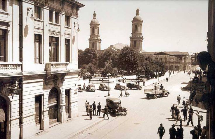 Vista de la Plaza Independencia de Concepción