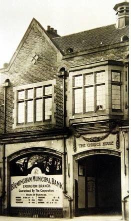 Birmingham Municipal Bank, temporary building in Erdington.