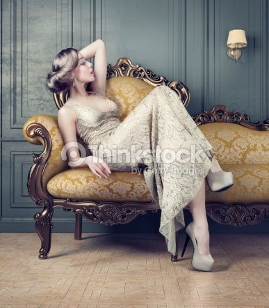 luxurious furniture and elegant woman - Google Search