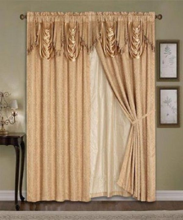 Details About Luxury Window Curtain 4pc Drapes Liner