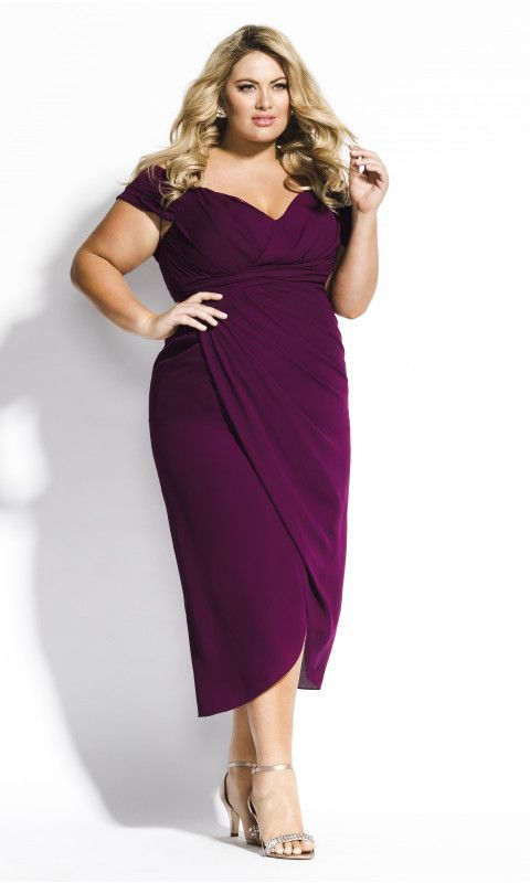 Shop Women's Plus Size Entwine Maxi Dress – mulberry – New | City Chic AU    #ci…