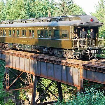 North Shore Scenic Railroad  An 1890s train station in downtown Duluth now houses four museums and the North Shore Scenic Railroad -  take a narrated train ride to Two Harbors, with a two-hour layover for exploring before returning to Duluth.