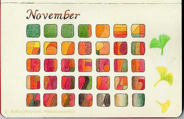 2012_November Calendar by blue_belta, via Flickr