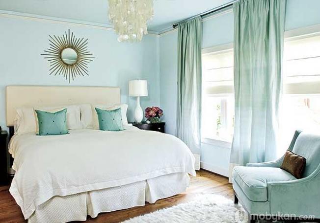 الوان دهانات مميزه افكار ل الوان الدهان مجلة موبيكان Small Bedroom Colours Blue Bedroom Design Light Blue Bedroom