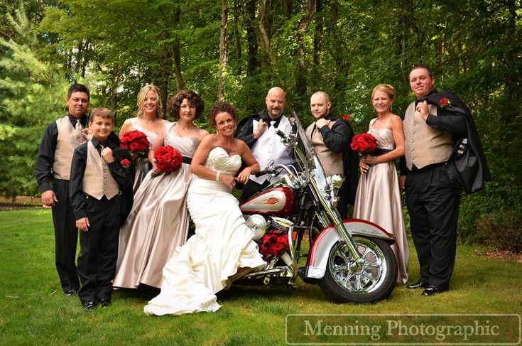 Harley Davidson Wedding: Harley Davidson With Bridal Party Www.menningphotographic