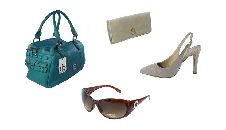 - Bolso RoccoBarocco Kirsten Ottanio - Zapatos de tacón Versace 1969 Edwige Farro - Cartera Benetton Zacken 21A73868002 - Gafas de sol Guess GU6389F