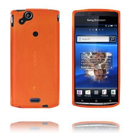 Soft Shell (Oransje) Sony Ericsson Xperia Arc Deksel