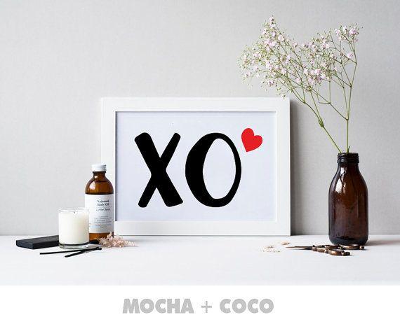 XO Print Poster Motivation Love Kichen Print Kids by MochaAndCoco