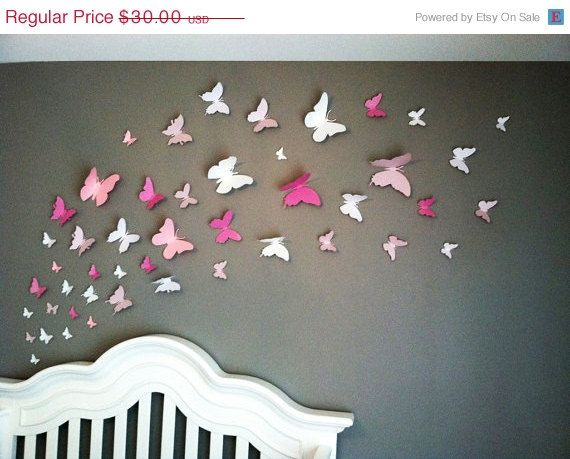 ON SALE 40 3D Butterfly Wall Art Circle Burst by LeeShay on Etsy