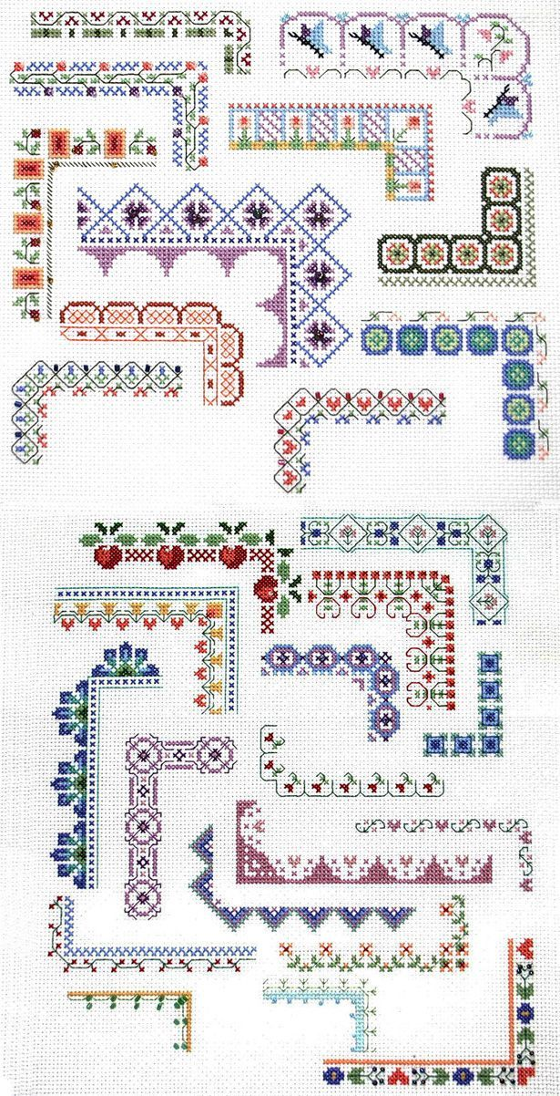Counted Cross Stitch Design: Bountiful Borders - Crafting For Holidays