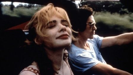 """Adrienne Shelly and Billy Crudup in Chris Kentis' film """"Grind"""" (1997)"""