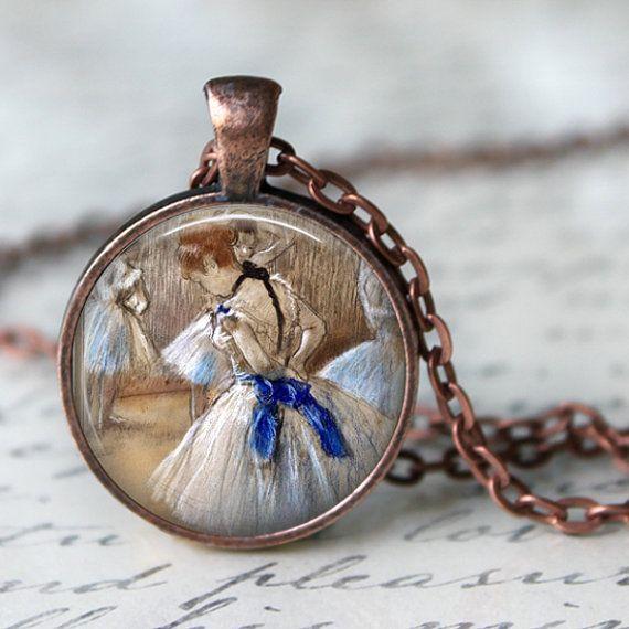 BALLET Necklace by Edgard Degas Pendant by LiteraryArtPrints  #literaryjewelry