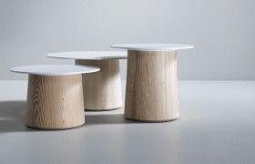 Design Beistelltische - Beistelltische rund - runde Designer Beistelltische - Holz - Design