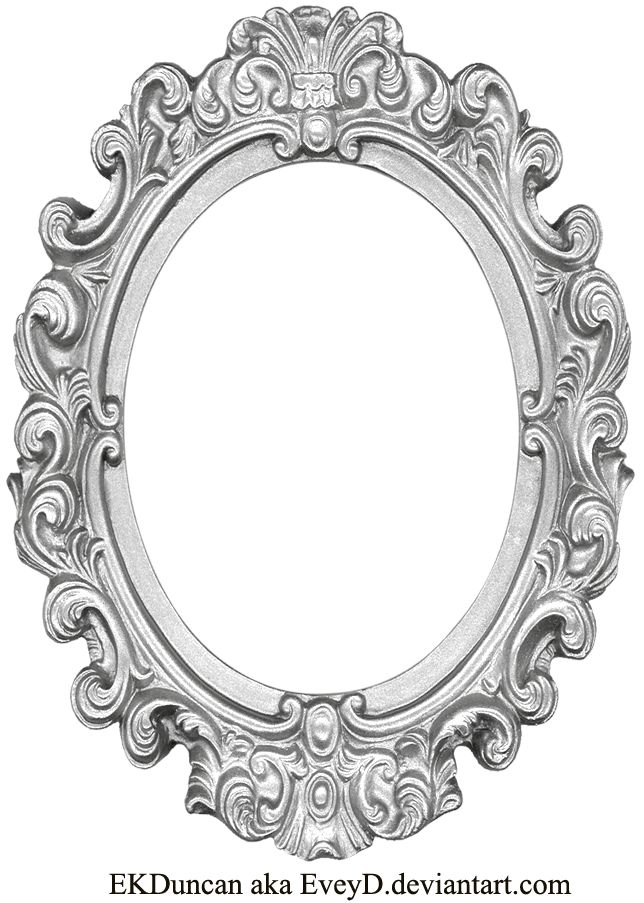Ornate Silver Frame - Long Oval by EveyD on deviantART
