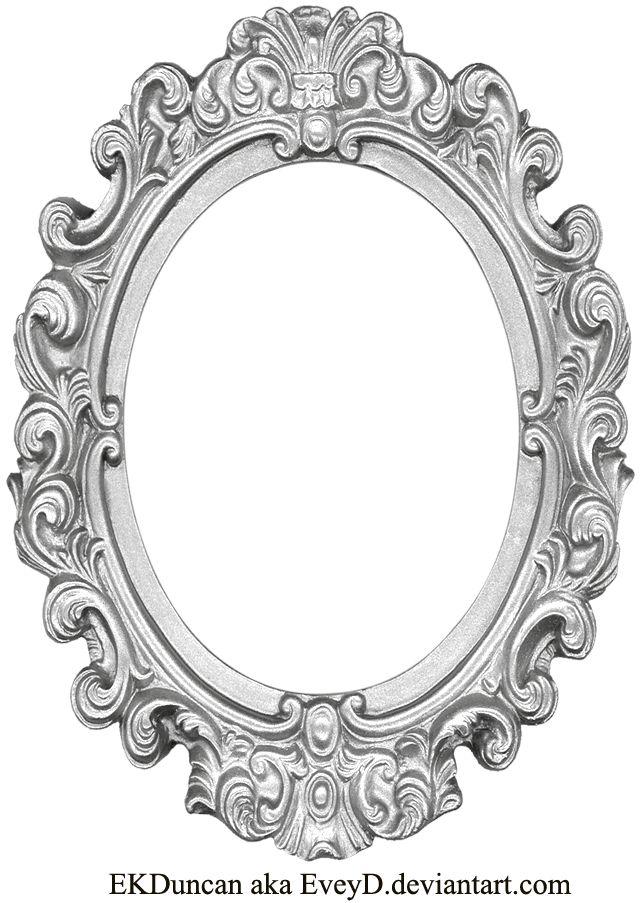 Ornate Silver Frame - Long Oval by EveyD.deviantart.com on ...