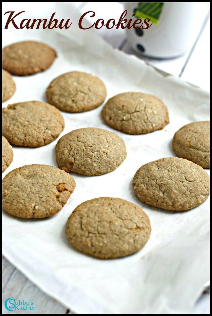 Pearl Millet Cookies Recipe | Kambu Badam Cookies