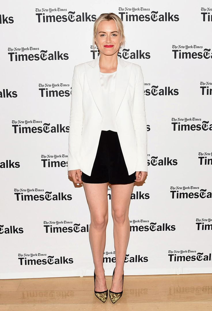 Taylor Schilling at TimesTalks Presents: an Evening With Lucy Liu, Maggie Gyllenhaal and Mira Sorvino.