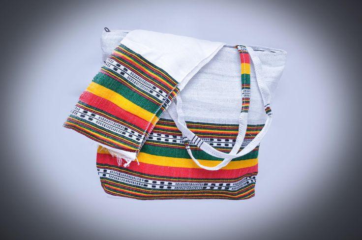 White Bag with Ethiopian Flag