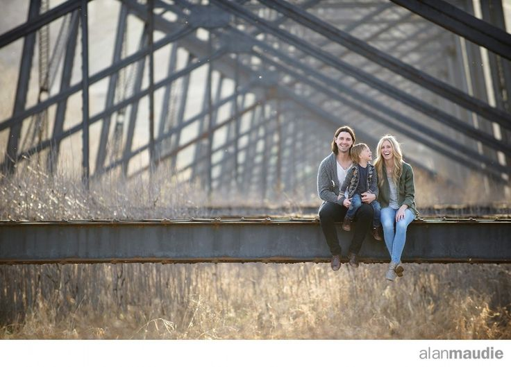 Lethbridge Family photographs under the bridge.