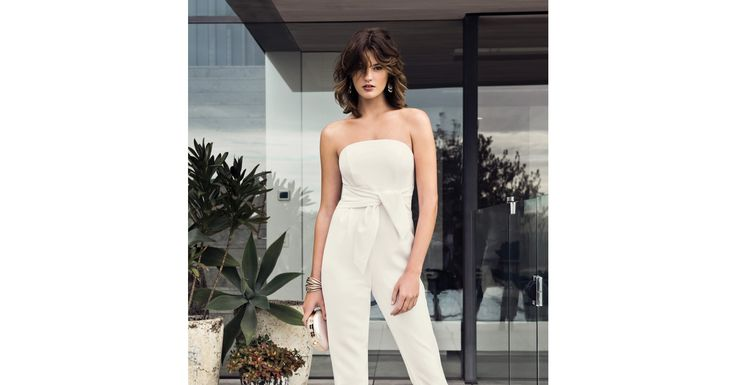 The ultimate all-in-one ensemble, adorn yourself in our Tasha Bandeau Jumpsuit for playful days and chic evenings.