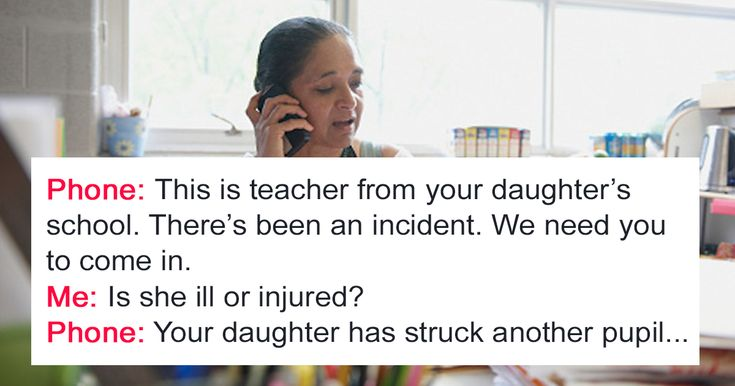 School Calls Mom After Her Daughter Hits Another Student, But Mom's Reaction Surprises Them | Bored Panda