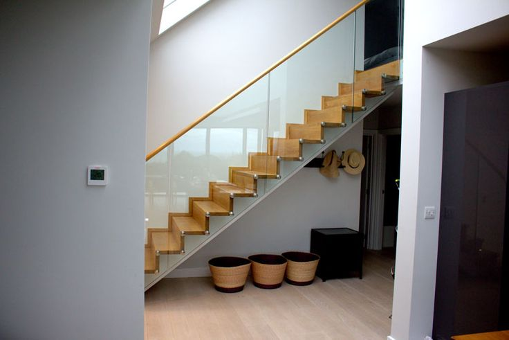 Timber and Glass staircase made and Installed by Camel Group