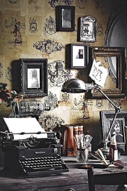 Vintage Interior Inredning Skrivmaskin Typewriter