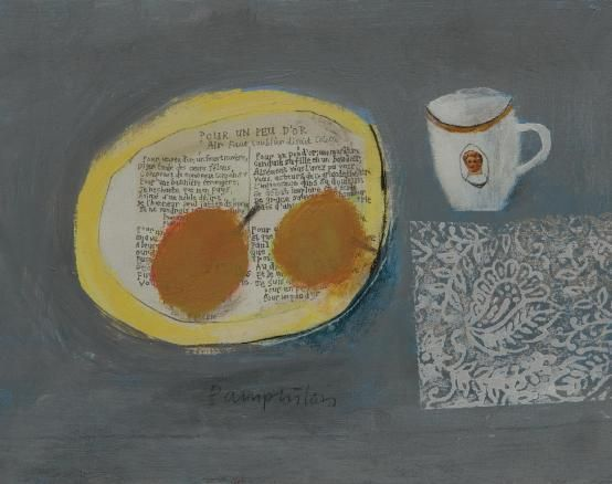 Elaine Pamphilon - french plate, an unusual perspective still life