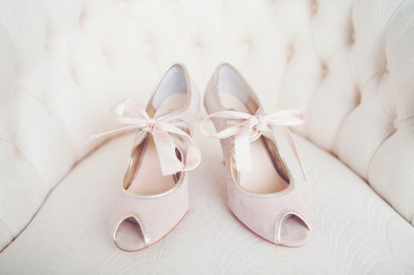 Vintage inspired wedding shoes by Rachel Simpson