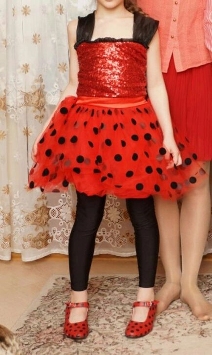 Tienda Online Milagrosa Niñas Vestido de Los Cabritos Del Vestido de Flash para La Muchacha Máscara Cosplay Disfraces de Halloween Rojo Mariquita Marinette Bobo Choses Ropa Del Niño | Aliexpress móvil