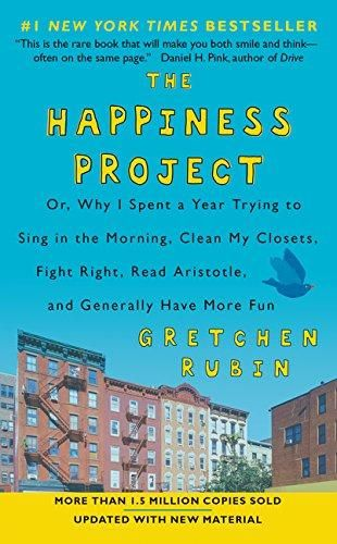 The Happiness Project by Gretchen Rubin. With humor and insight, she chronicles her adventures during the year she spent test-driving the wisdom of the ages, current scientific research, and lessons from popular culture about how to be happier. Rubin didn't have the option to uproot herself, nor did she want to; instead she focused on improving her life as it was.