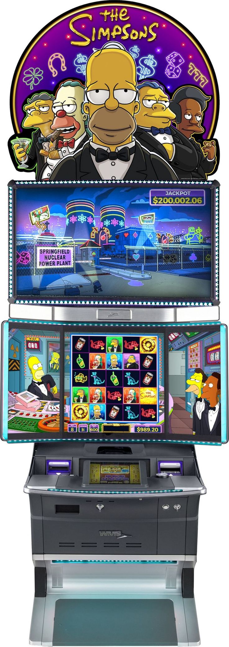 """THE SIMPSONS game release is a smart slot machine inspired by the famed cartoon franchise. Referencing everything from a """"Donut Wheel Bonus, Moe's Pranks A Lot, Apu's Scrat-Cha-Pa-Looza, and Krusty's It's Cobblering Time"""" levels, this slot machine is geared towards die-hard Simpsons fans seeking a unique form of gaming entertainment. Simpsons game slot machine also boasts an intuitive design that is brought to life with motion sensor technology, which allows players to fully immerse…"""