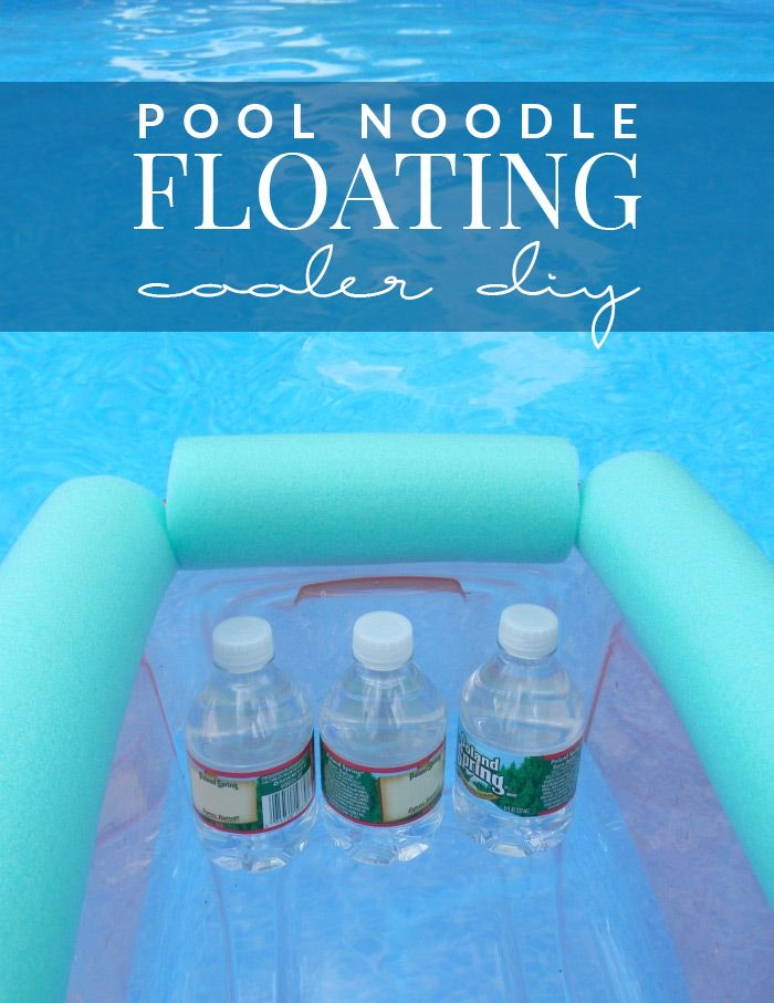 Make Summer even better with the easy pool noodle floating cooler DIY. Fill it with drinks and you can lounge poolside for the whole day!