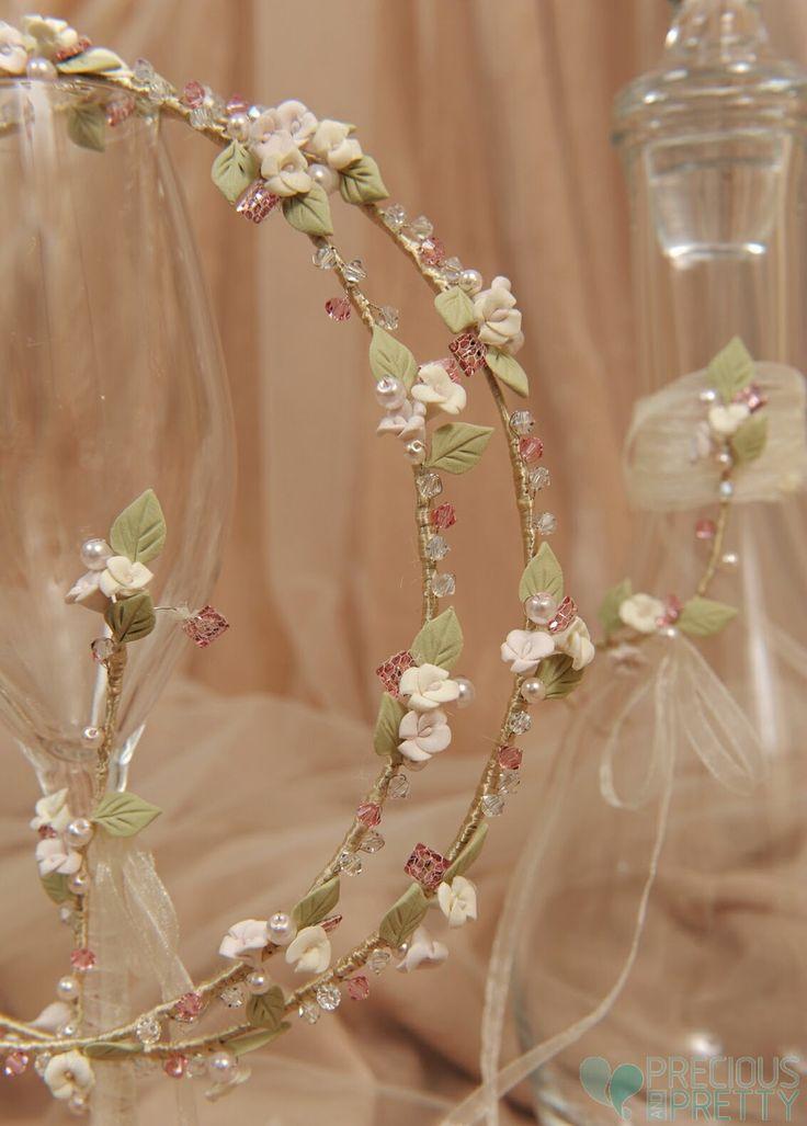 Μπομπονιέρες γάμου | Στέφανα | Προσκλητήρια: σετ καραφα ποτηρι δισκος