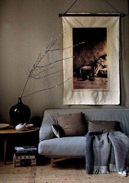 Een oude foto krijgt een nieuw leven door het beeld uit te laten vergroten en het op doek te laten printen.