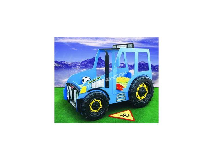 Detská posteľ Traktor modrý