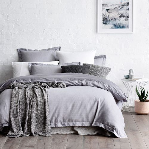 Bedroom With Gray Bed Bedroom Lighting Tips And Ideas Bedroom Color Blue Ideas Bedroom Decor Rustic: Home Republic Herringbone Quilt Cover Set, Quilt Covers