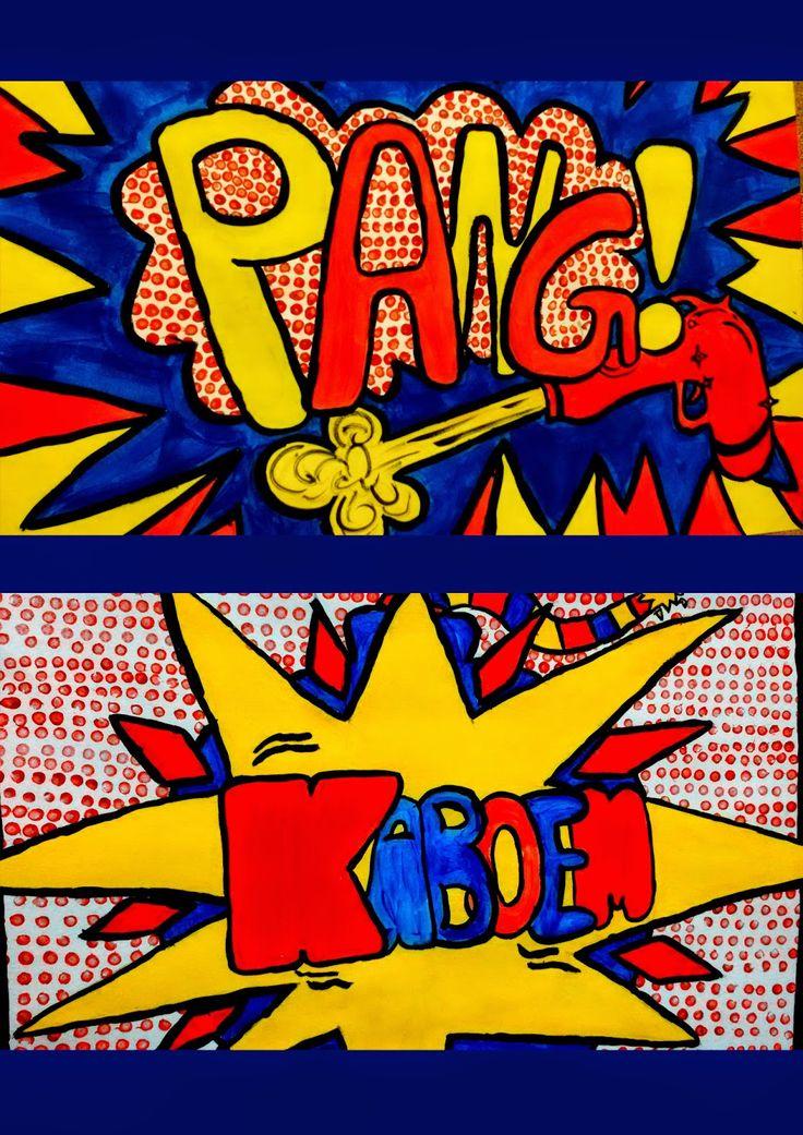 Onomatopee volgens Roy Lichtenstein - primaire kleuren (bron:SASK)
