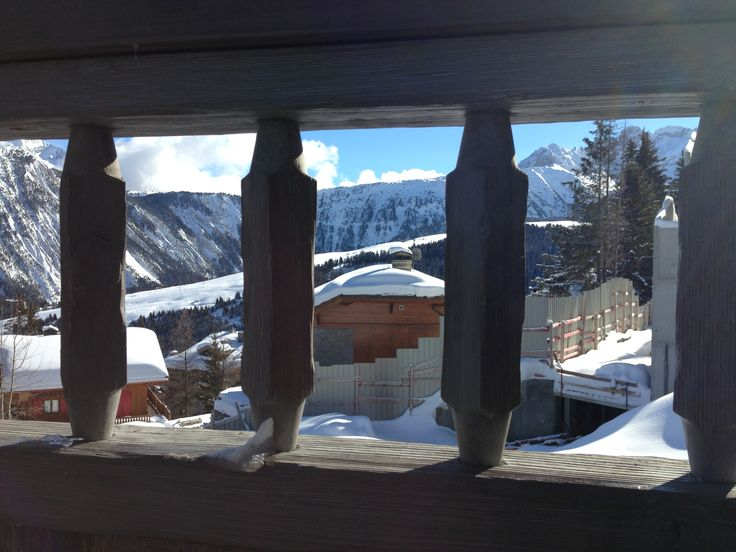 Courchevel from the balcony