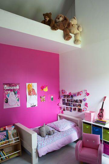 Une chambre rose - CôtéMaison.fr