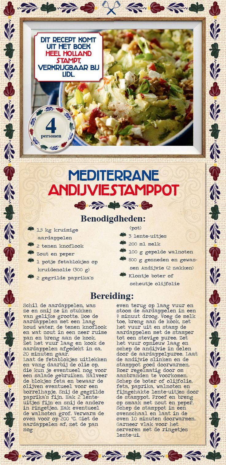 Mediterrane andijviestamppot - Lidl Nederland. Stamppot rauwe andijvie met een mediterrane twist. Lekker!