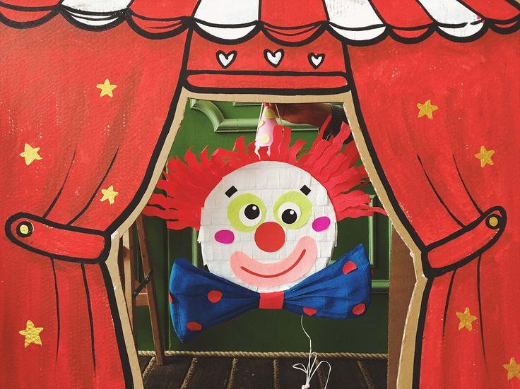 OK baby! Пиньта в виде клоуна для праздника в теме Цирк