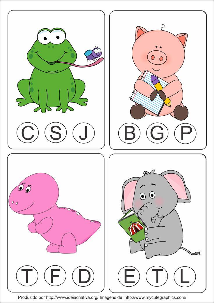 Atividade AEE Animais Letra Inicial com Cards e Pregadores