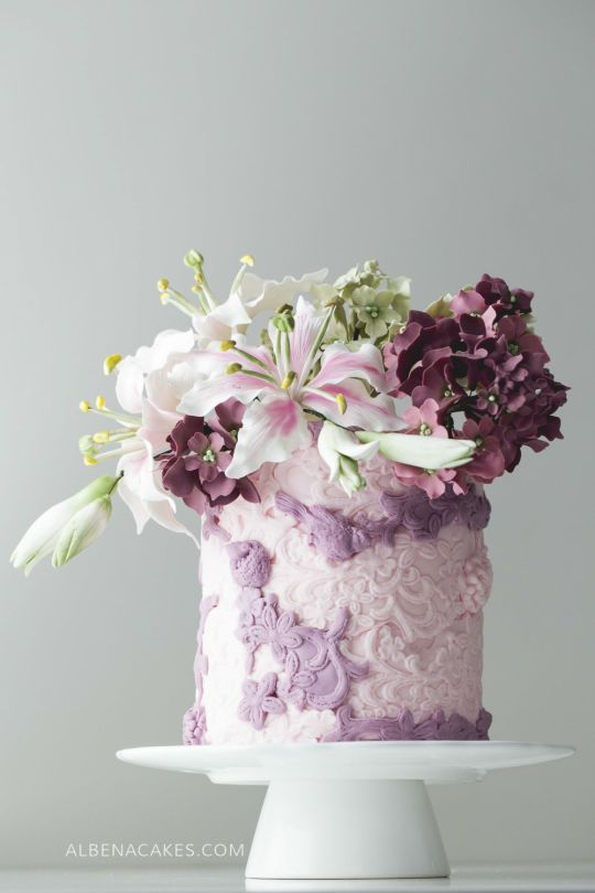 #9 Wedding Cake inspired by Enchanted Garden