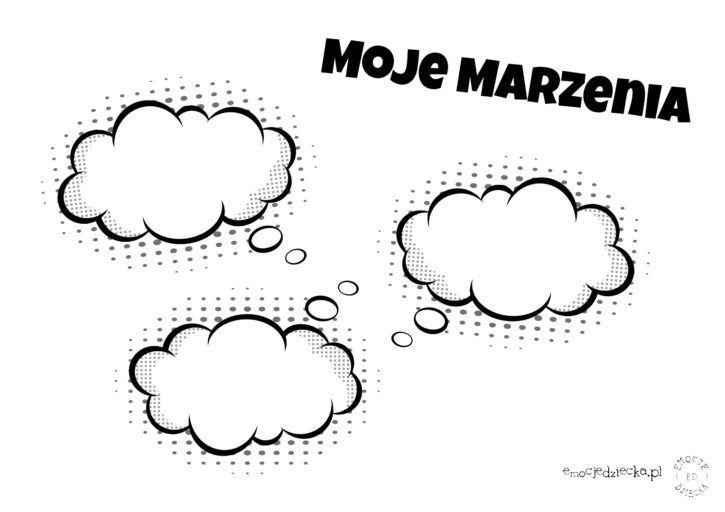 Moje marzenia - materiały do pracy z dzieckiem - Emocje Dziecka | Polish language, Education, Psychologist