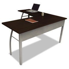 Linea Italia Trento Line L-Shaped Desk, 59w x 59d x 29-1/2h, Mocha-- by BND 712820737072 TR737MOC by Linea Italia®. $288.64. Office Furniture. Desks. Stylish minimalist design for universal appeal. Scratch- and stain-resistant woodgrain laminate with durable PVC edge and strong powder coated steel frame. Configures right or left to suit your needs. Adjustable leveling glides for stability. Quick and easy assembly in just 9 minutes with no tools required. Color: Mocha Gr...