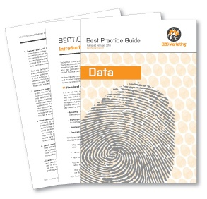 Data Best Practice Guide - from @B2B Marketing #data #tips