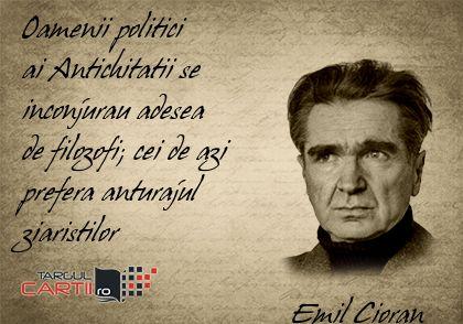 TargulCartii.ro va recomanda operele lui Emil Cioran  http://www.targulcartii.ro/emil-cioran