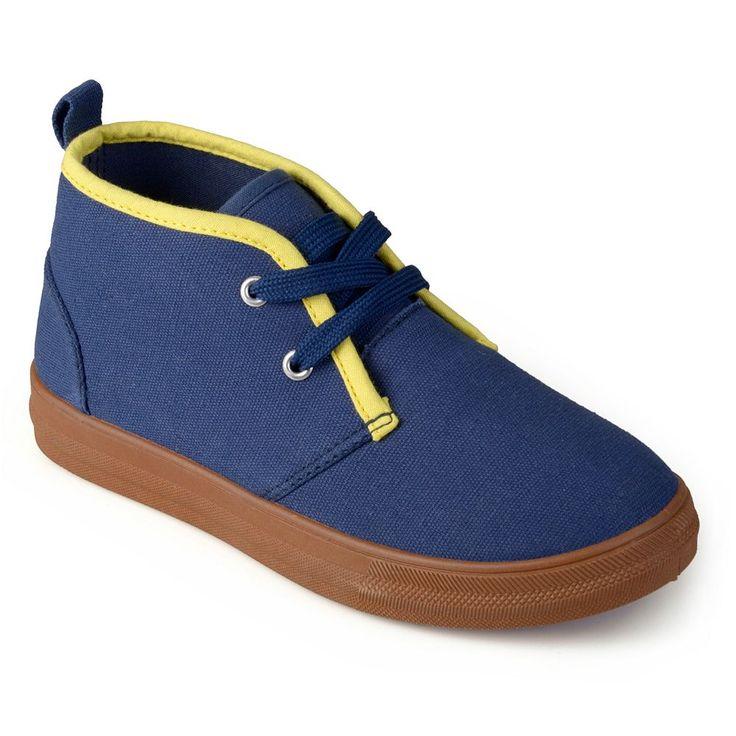 Journee Zyon Boys' Chukka Sneakers, Size: 10 T, Blue